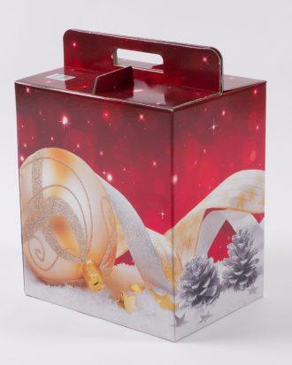 Bauletto in cartone, ideale come contenitore dei prodotti preferiti durante le feste