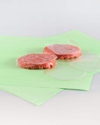 Disco in cellophane, ideale per coprire e conservare al meglio i tranci di carne