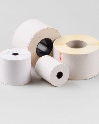 Rotolo di carta bianca, ideale per etichettare i prodotti dopo averli pesati