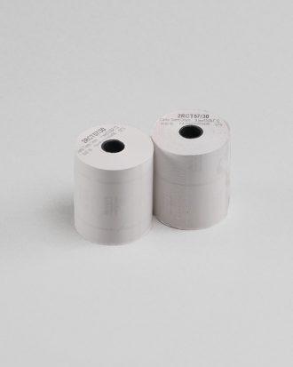 Rotolo di carta bianca, ideale per generare gli scontrini in cassa