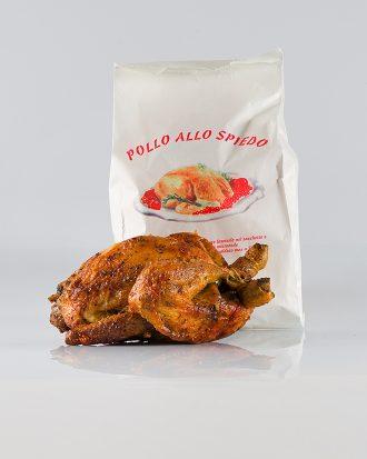 Sacchetto di carta con trattamento antigrasso internamente, ideale per conservare il pollo ancora caldo