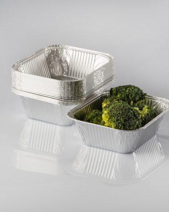 Vaschetta in alluminio di diversi formati, ideale per contenere e trasportare tutti i cibi